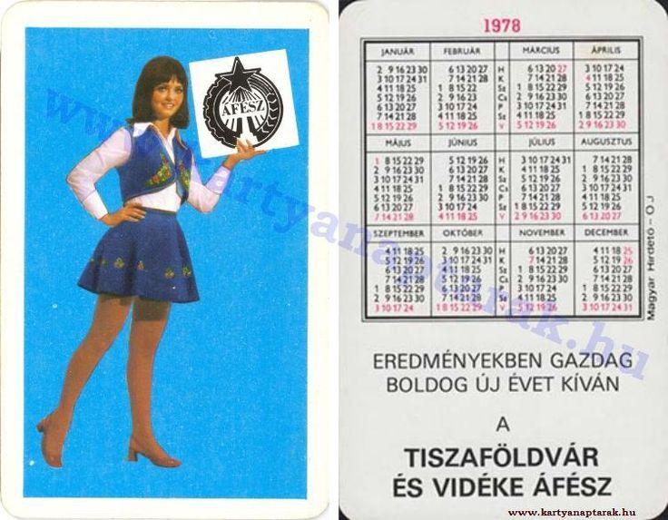 1978 - 1978_0920 - Régi magyar kártyanaptárak