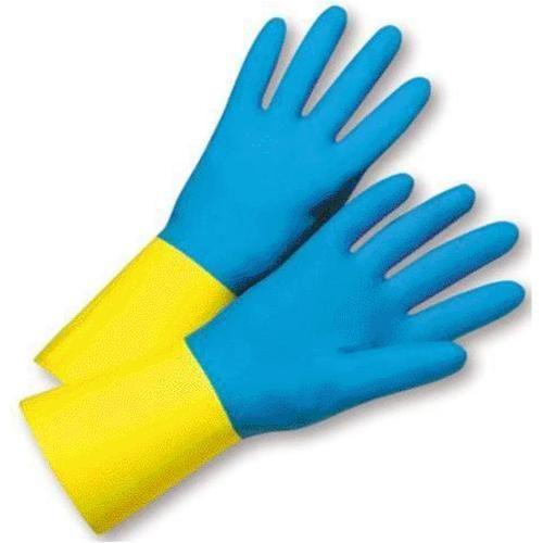 West Chester 00134/M Neoprene Latex Flock Lined Chemical Glove, Medium