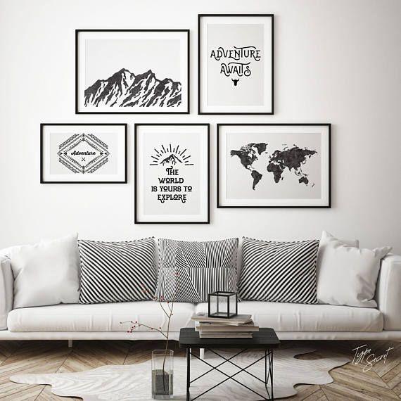 Affiche Scandinave, Mountain Range, Mountain Prints