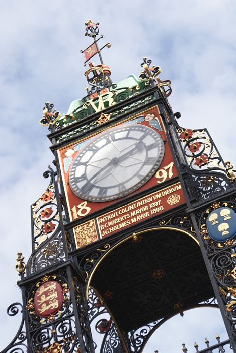 Eastgate Clock in Chester City Centre. #Cheshire