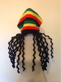 Sooz In The Shed...: Dreadlock Rasta hat - the free pattern