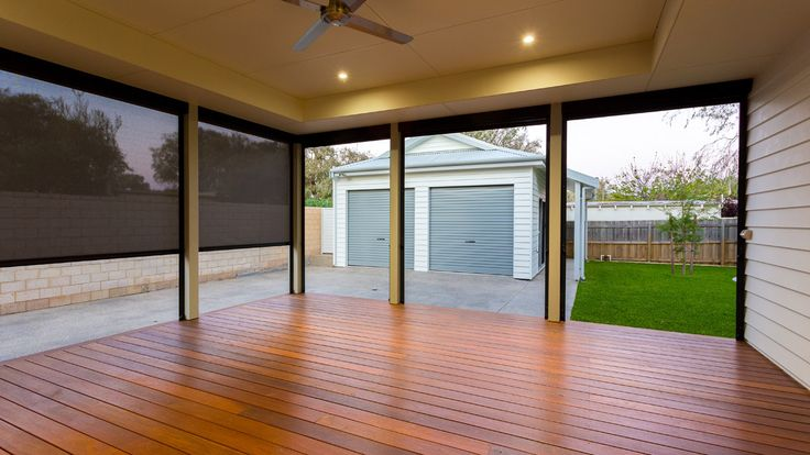 Timber decking patio