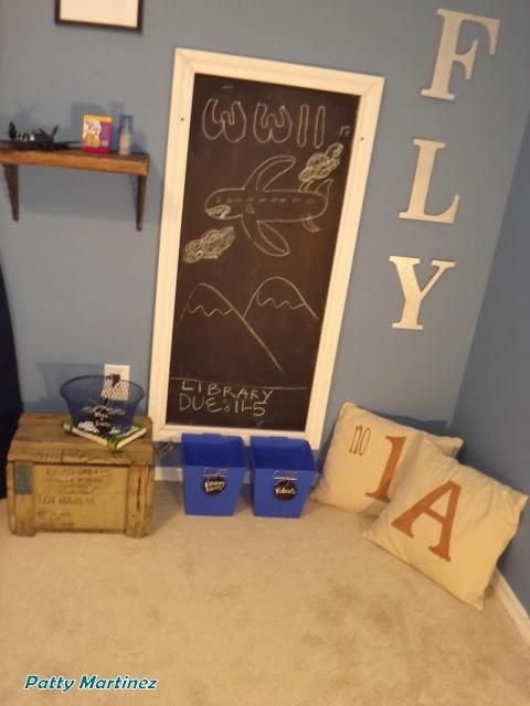 Boy's homework space  Nuestras aventuras en Texas: Kid's Homework Space-Room Redo