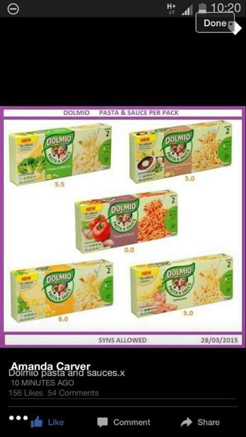 Dolmio pasta and sauce