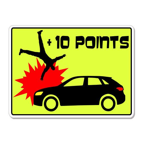 10 points car bad driver game funny car bumper sticker decal 6