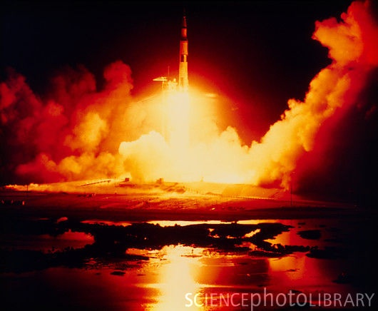 Apollo 17 (XVII) - The only night launch of an Apollo mission.  Also the final launch of Apollo.