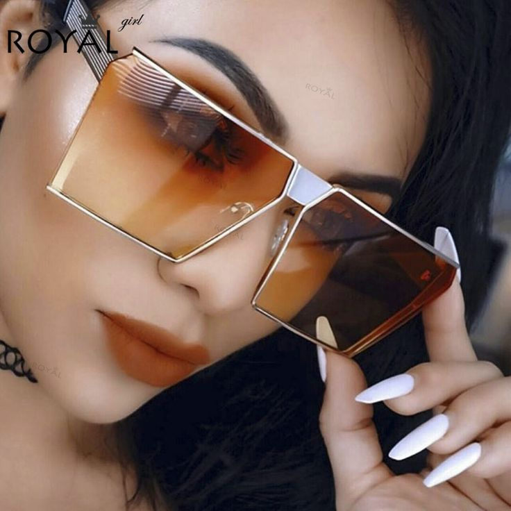 ROYAL GIRL 2017 New Color Women Sunglasses Unique Oversize Shield UV400 Gradient Vintage eyeglasses frames for Women #ss953