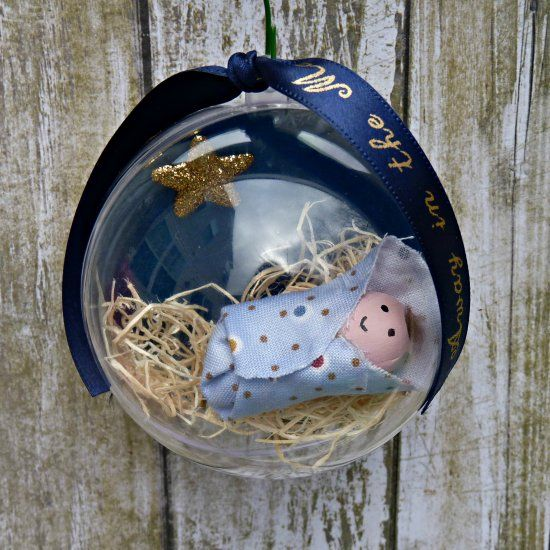This sweet ornament is easy to create and makes a great gift for all the kids in your life.