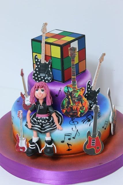 viorica's cakes: Muzica rock si cubul Rubik