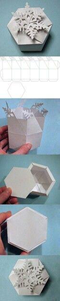 DIY Snowflake box
