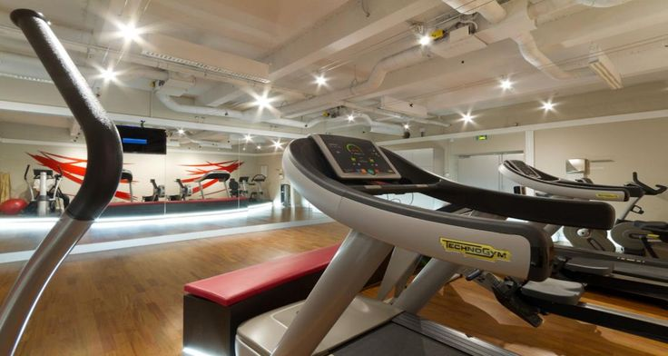 Sport room into the offices of Solucom in Paris, France