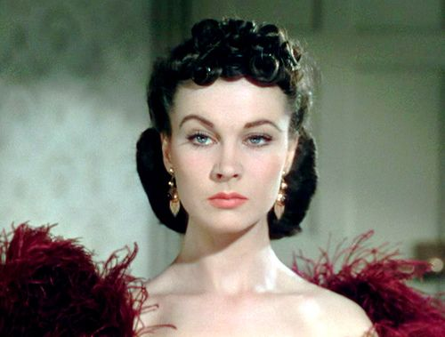 Vivian Leigh. The eyebrow. We have this in my family and it's terrifying.