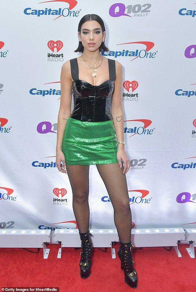 Dua Lipa Struts Around The Stage In Sparkly Miniskirt At Jingle Ball Lipa Celebrity Style Dua