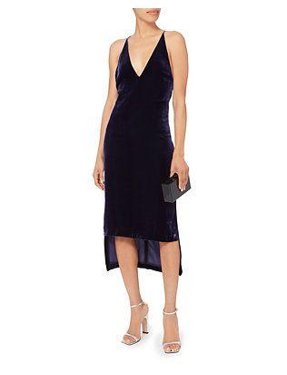 Dion Lee Silk Velvet Fine Line Cami Dress