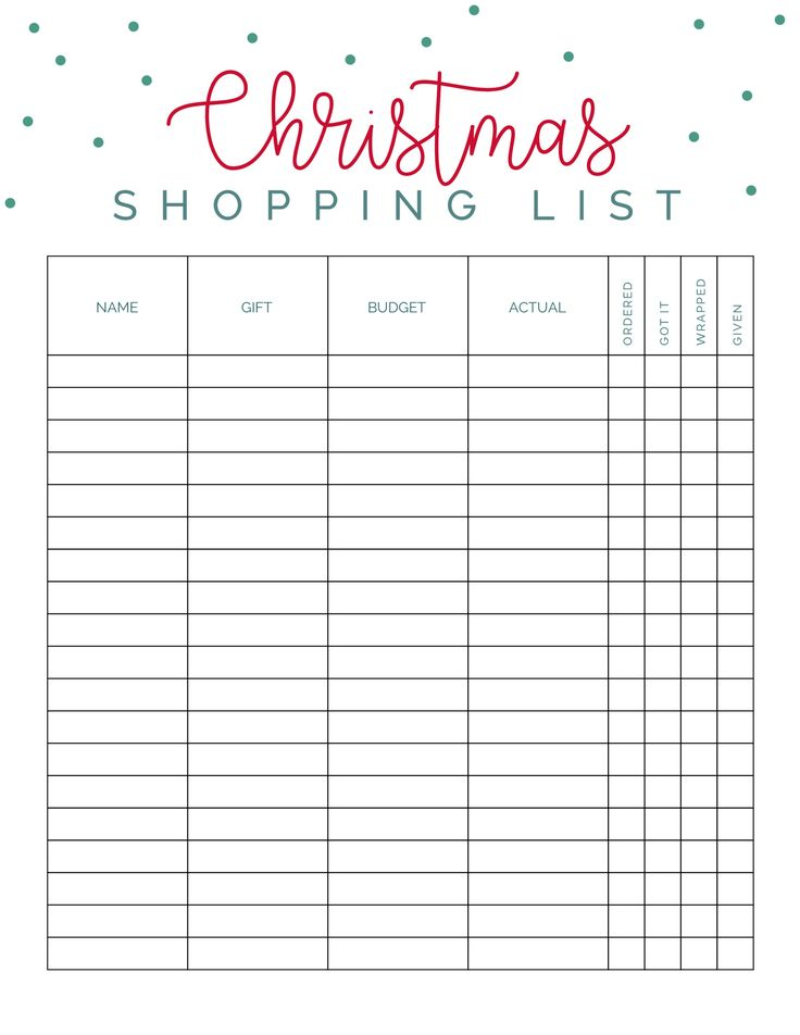 Best 25+ Christmas shopping list ideas on Pinterest Christmas - christmas to do list template