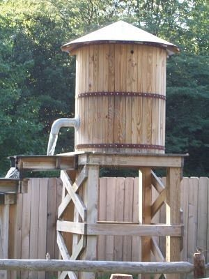 Backyard water tower.  too cool