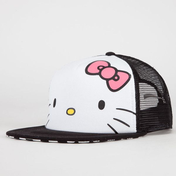 5d784045190b0 VANS Hello Kitty Trucker Hat ( 13) ❤ liked on Polyvore featuring  accessories