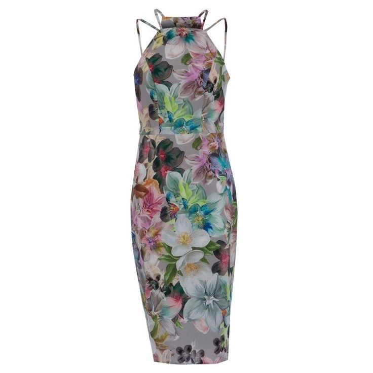 NEW ASOS Watercolour Floral Pencil Shift Bodycon Dress Sizes 10 to 18