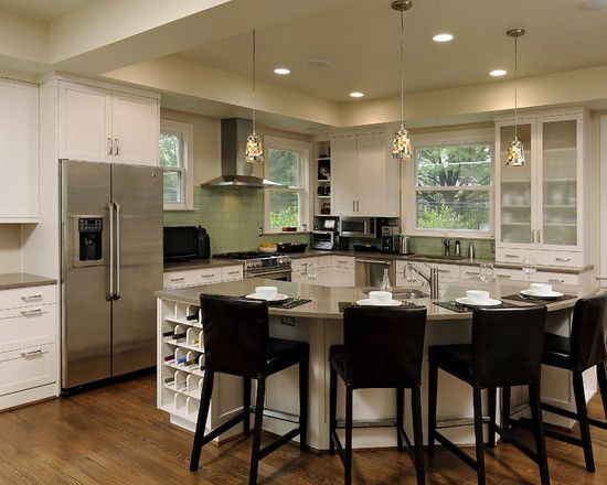 30 kitchen islands with tables a simple but very clever combo - Kitchen With An Island Design