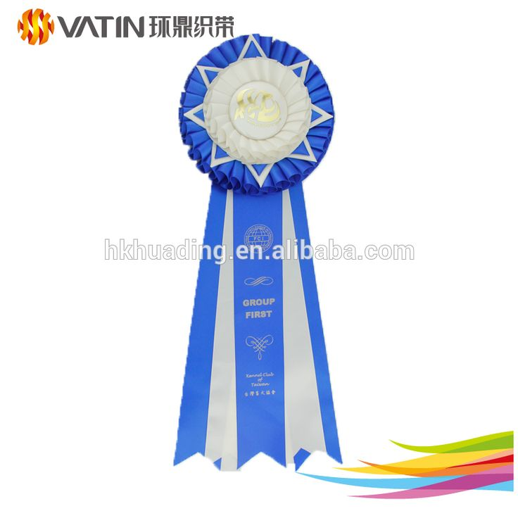 Custom Competitive Activity Ribbon Award Round Ribbon Rosettes