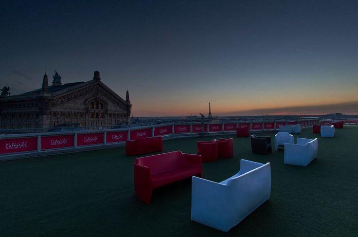 Vue exceptionnelle de la terrasse des Galeries Lafayette Haussmann