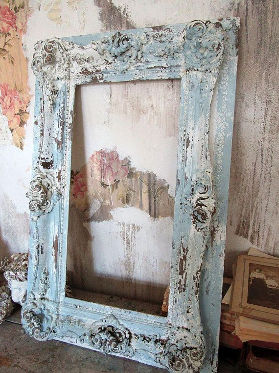 Antique Ornate Picture Frame Wood And Gesso Wall Display Hand Ornate Picture Frames Large Picture Frames Picture Frame Wall