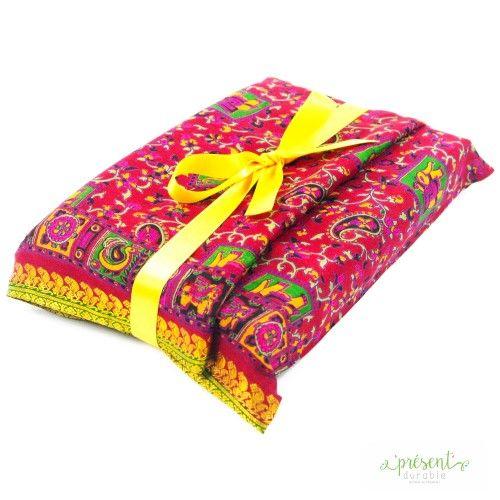 Présent Durable - Smart en Taille S - Sari rose aux motifs éléphants