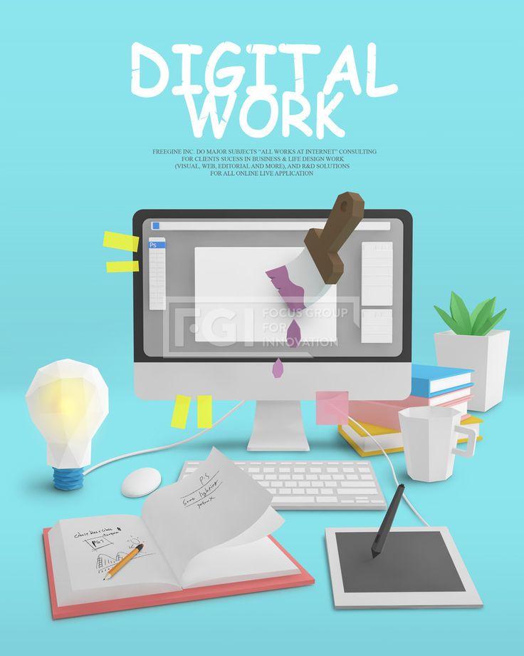 FUS062, 프리진, 그래픽, 비즈니스, 오브젝트, 컴퓨터, 그래픽, 아이콘, 전구, 타블렛, Digital, 입체효과, 에프지아이, fus062, 3d데스크오브젝트, fus062_001, 3d데스크오브젝트001, 3D, 책상, 소품, 타이포그래피, 타이포, PC, 공책, 책, 태블릿, 화분, 키보드, 마우스, 컵, 페인터, 포토샵, 디자인, 사무실, 회사, 파스텔, 모니터, 교육,#유토이미지