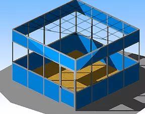 box ufficio a quattro lati