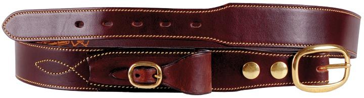 Cattleman's Belt with knife pouch. Leather and brass.