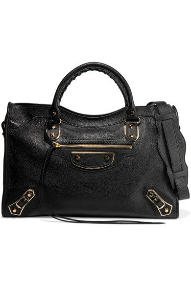Balenciaga | City glossed textured-leather tote | NET-A-PORTER.COM