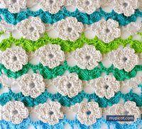 Crochet Flower Stitch Tutorial - (mypicot)
