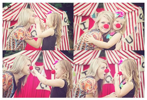 "mother and daughter having fun! Circus themed mini session. Image from ""Come Join Our Circus"" mini sessions with Absolutely Epic Photography"