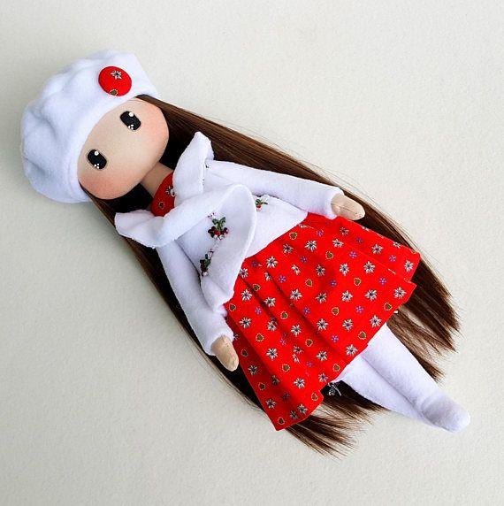 Beth Cloth Doll Handmade Doll Fabric Doll Textile Doll Rag