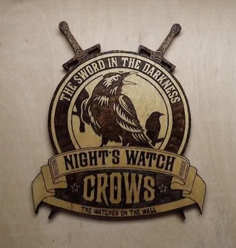 Escudo A Patrulha Da Noite Guerra Dos Tronos Game Of Thrones - R$ 85,00