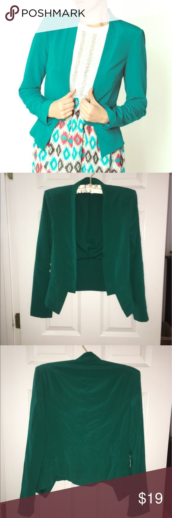 Charlie jade emerald silk blend blazer XS Silk blend Charlie jade size XS emerald green blazer charlie jade  Jackets & Coats Blazers