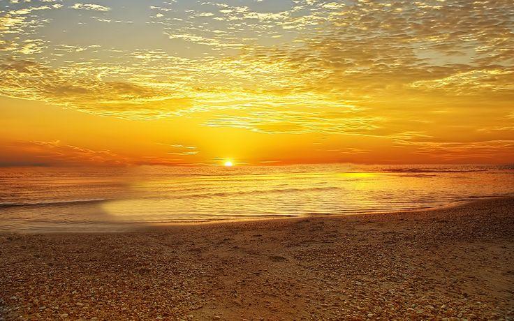 beach sunrise backgrounds | Morning Sunrise beach beauty ...