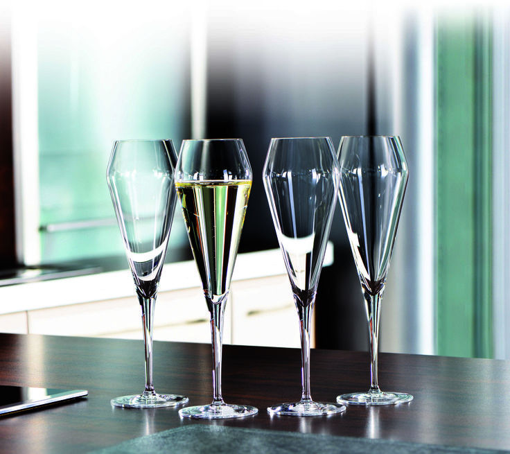 The Willsberger Anniversary Champagne Glasses: beautifully exquisite lead crystal.