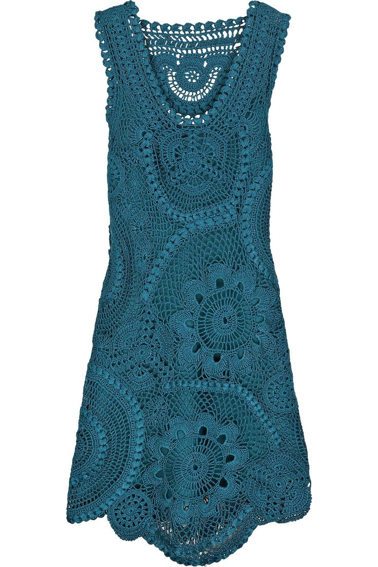 Oscar de la RentaSilk crochet silk dress
