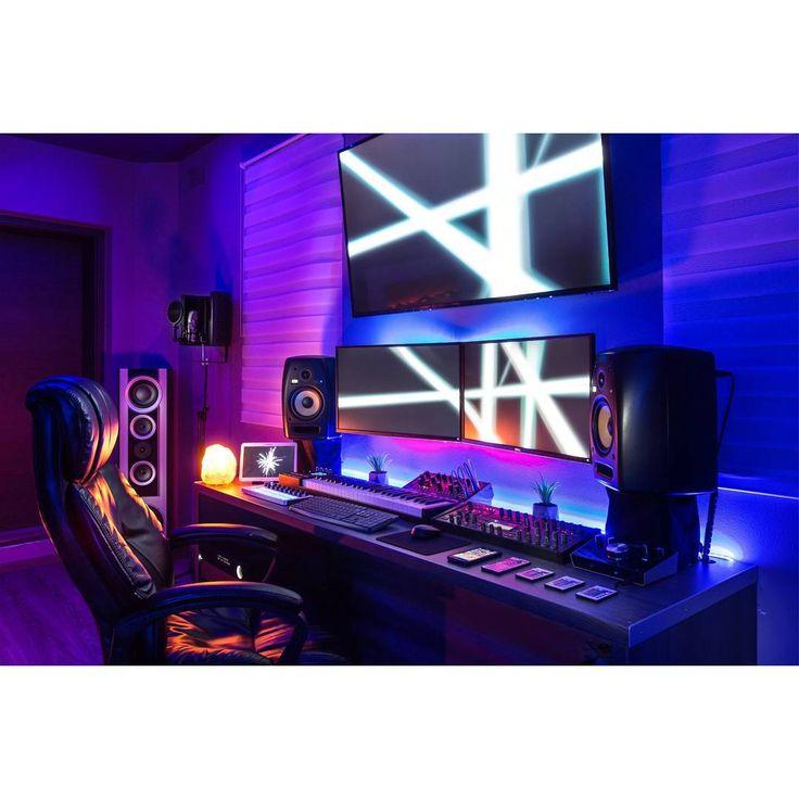 17 best ideas about gaming setup on pinterest computer setup desk setup and pc setup. Black Bedroom Furniture Sets. Home Design Ideas