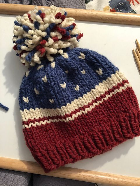 cca619cf454 Ravelry  American Flag Hat pattern by Sarah R