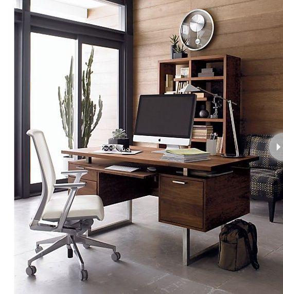 33 Stylish And Dramatic Masculine Home Office Design Ideas - DigsDigs