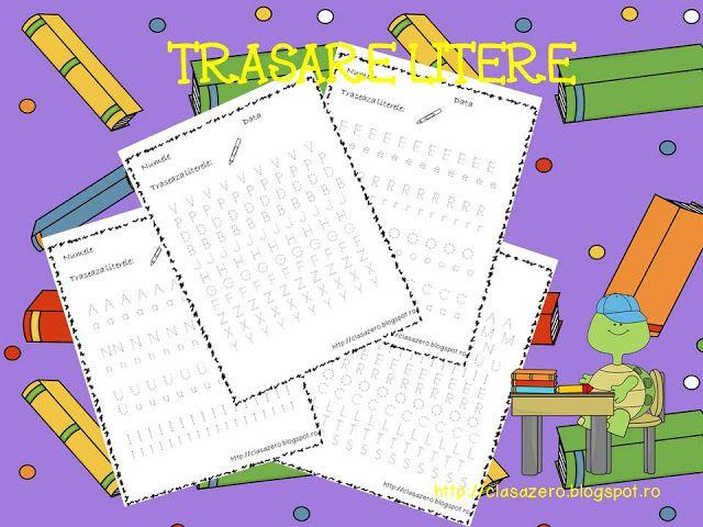 Clasa pregatitoare: Trasare litere fise de lucru