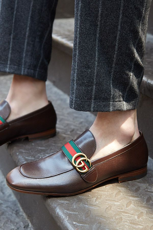 New ways to wear an old classic. Discover an elevated take on the humble loafer, like bold stripes and a buckle from #Gucci, now on Saks Edition. #SaksMen