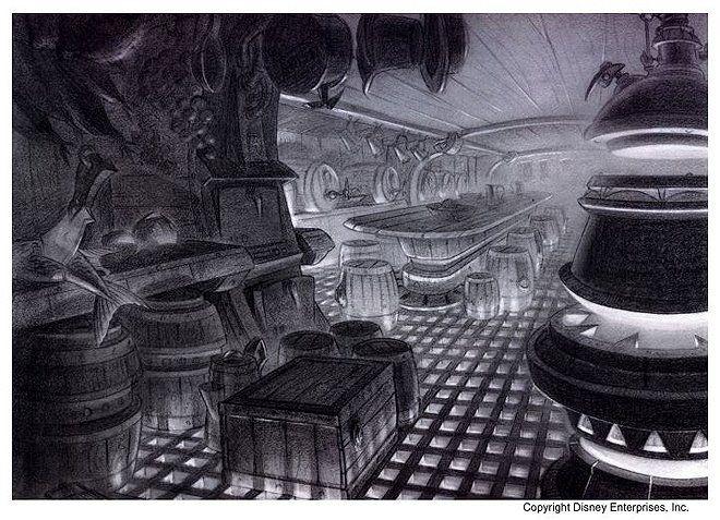 Планета Сокровищ / Treasure Planet. The art of Treasure Planet. часть 1. — Classic 2D Animation