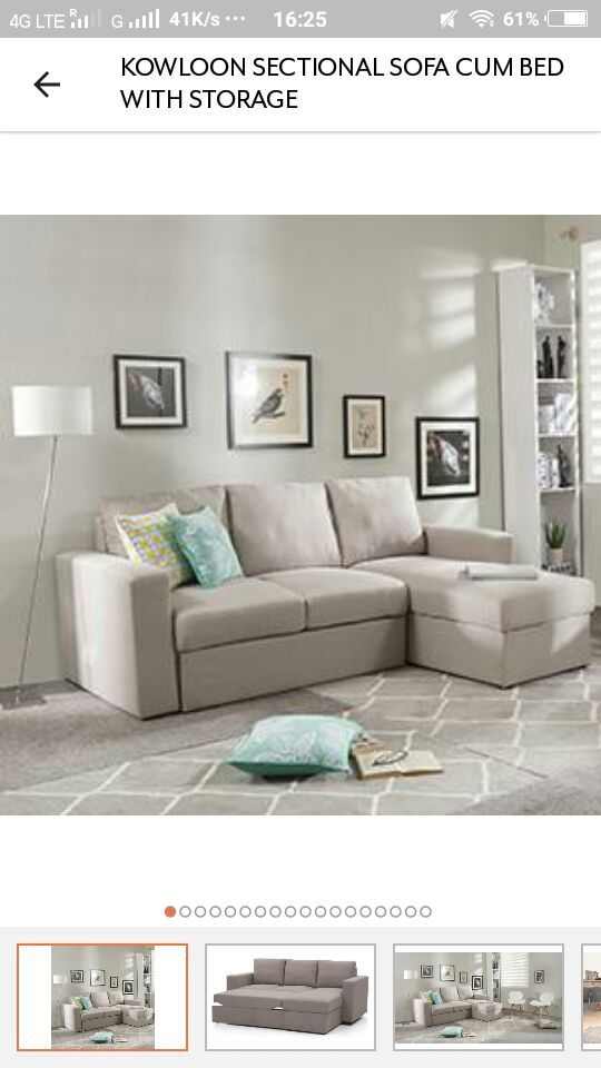 Sectional Sofa Buy Kowloon Sectional Sofa Cum Bed with Storage at Urban Ladder