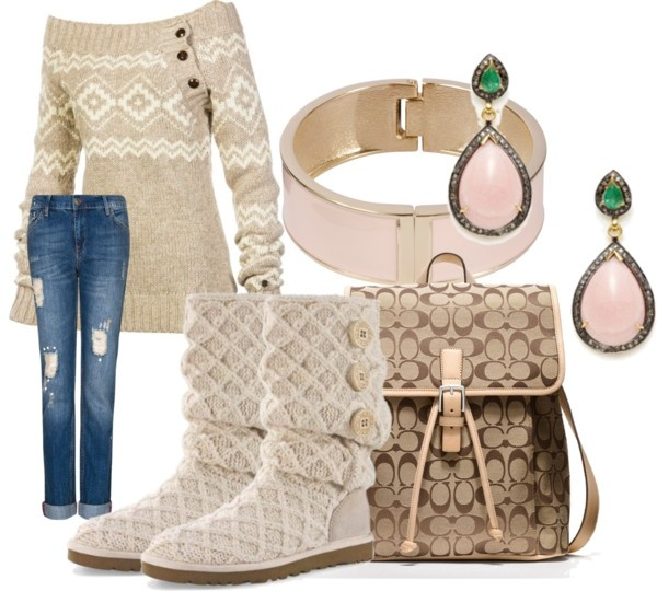"""cute winter school outfit"" by mariah-c-maxwell on Polyvore"