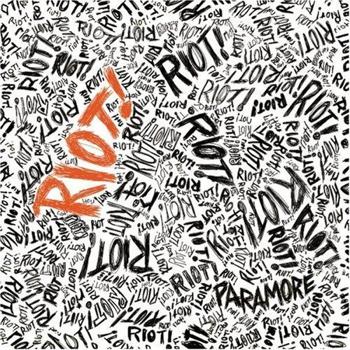 Riot! is the album by American alternative rock band Paramore. The album cover has cool playful hand drawn typography depicting the raw energy based on the theme of the album.