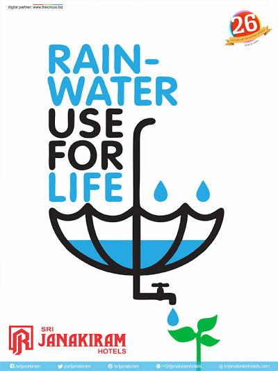 #Rain water is the #elixer of the life and its the nature's gift for all living beings in this world. #Save and Conserve this fresh water supply for our future. Issued by public interest.  #Srijanakiram #Save_water #conserve