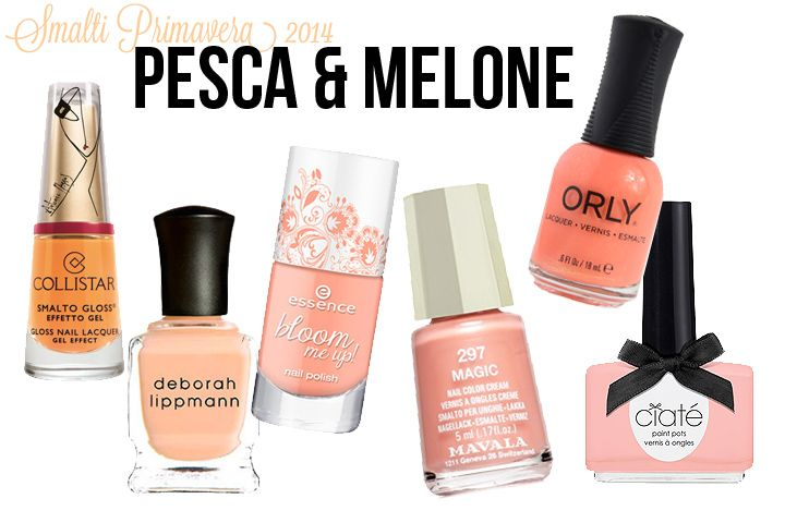 Spring 2014 nail polish color trends: peach & melon